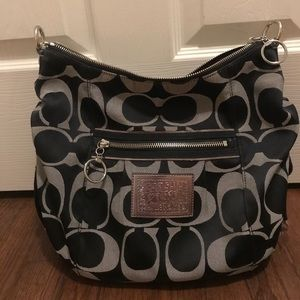 Black and grey coach poppy purse perfect condition