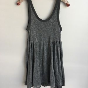 Women's Free People Gray Sparkly Top