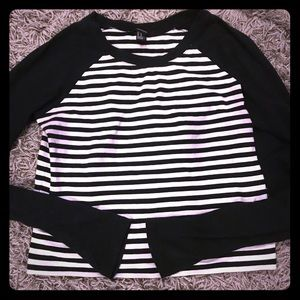 Striped crop top.