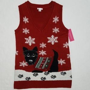 NWT Cute Scottie Ugly Holiday Sweater Vest - XS
