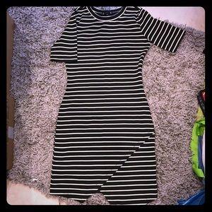 Bodycon stripped dress.
