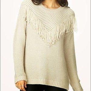 New women's tassel fringe boho pullover sweater