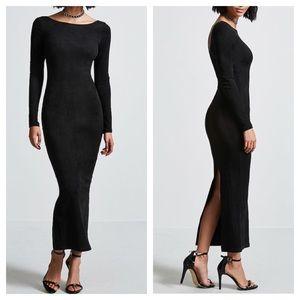 Dresses & Skirts - #SLAY Black Maxi Dress with High Back Slit