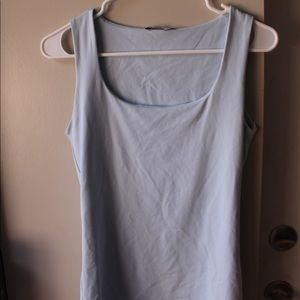 Zara blue basic tank