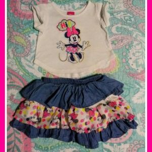 Minnie mouse 2 piece outfit💟 Size 18 months
