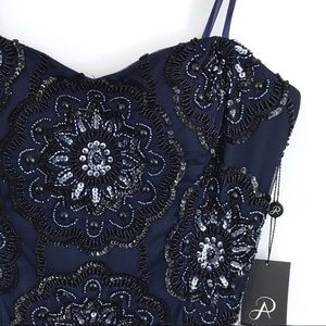 Adrianna Papell Embellished Strapless Dress NWT