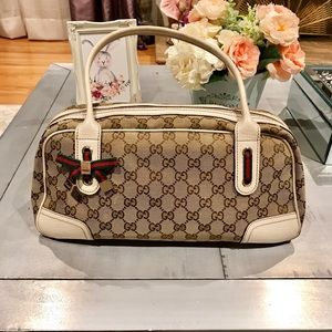 💯Authentic GUCCI GG Princy Boston Tan Handbag 💕