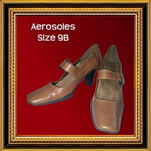 AEROSOLES - Medium Brown, Heels - Size 9B