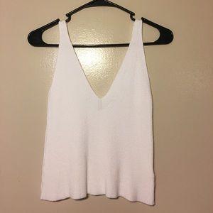 Brandy Melville Ribbed Knit Vneck Tank Top