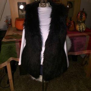 Jacket Vest Xhiliration faux fur