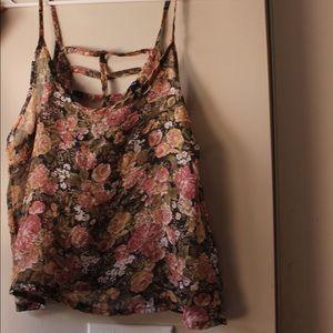 Brandy Melville sheer floral tank