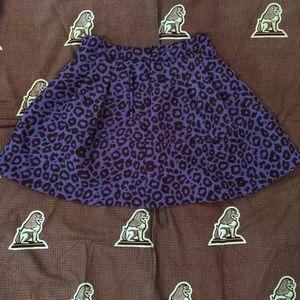 Pocketed Cheetah Print Skater Skirt