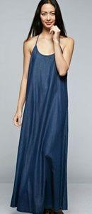 Dark Tencel Maxi Dress