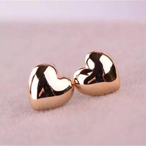 Beautiful Simple Gold Filled Heart Earrings