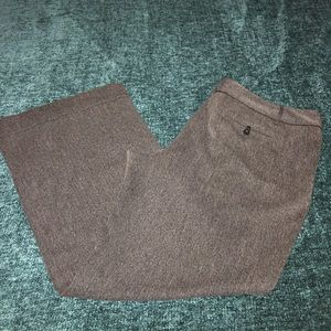 Ann Taylor Dark Grey Wide Leg Trousers Size 18