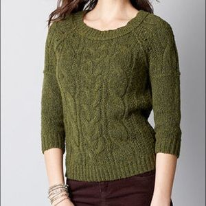 Cable knit chunk women's sweater top