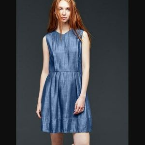 Trencel GAP Denim Fit and Flare Sleeveless Dress
