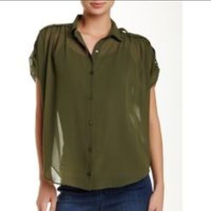 Catherine Malandrino Button Blouse