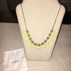 Beautiful Gold + Neon J. Crew Statement Necklace