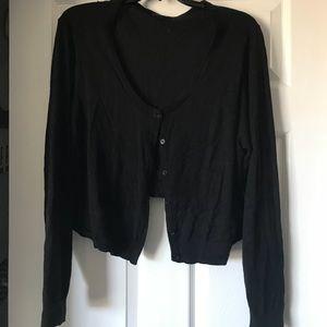 Torrid Size 3 Black Button-up Cardigan Sweater