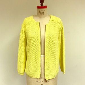 Zara knot Yellow sweater Cardigan jacket