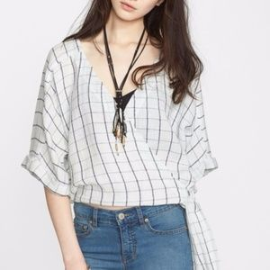 FREE PEOPLE In the Shade Wrap Blouse