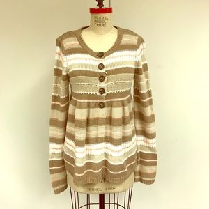 Anthropologie free people baby doll sweater coat