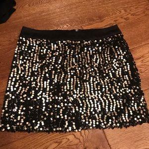 Black n gold sequin skirt
