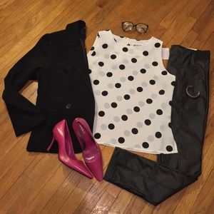 NWOT Gorgeous Vintage Polka Dot Blouse
