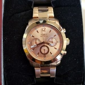 17902 Angel Rose Gold Plated Stainless Steel Watch