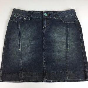 Guess Jeans Stretch Denim Mini Skirt Distressed 29