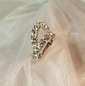Swarovski Swan Logo Signed Crystal Hoop Earrings