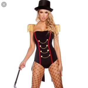 Black Circus Lion Tamer Sexy Halloween Costume