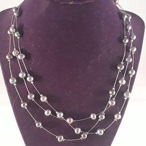 Costume Jewelry Grey Necklace
