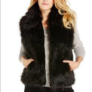 Women's faux fur vest outerwear top
