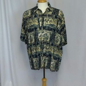 MENS MUNSINGWEAR HAWAIIAN SHIRT PALM TREES