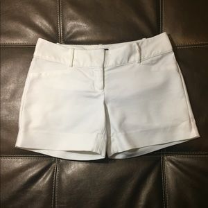 White Limited Shorts