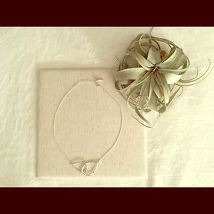 Interlocking Double Teardrop Necklace