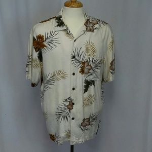 MENS CARIBBEAN JOE HAWAIIAN BEACH SHIRT