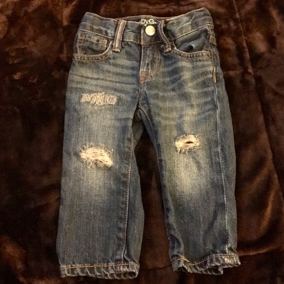 "GAP Baby Toddler Boy Size 18-24 Months Dark Blue /""First Original/"" Jeans Pants"