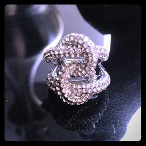 Jewelry - CZ double loops cz ring, sz 8.5
