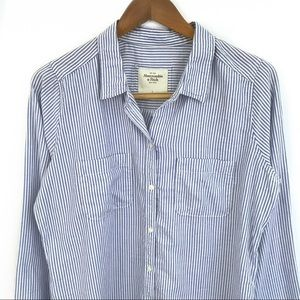 Classic Striped A&F Shirt NWOT
