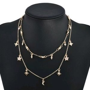 Jewelry - Starry Night Multi Layer Convertible Necklace