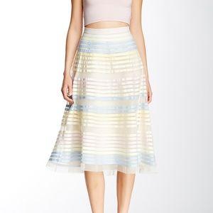 French Connection Delilah pastel ribbon midi skirt
