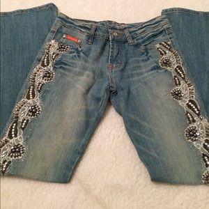J Secret Beaded Womens Jeans-90sJewels Festival M