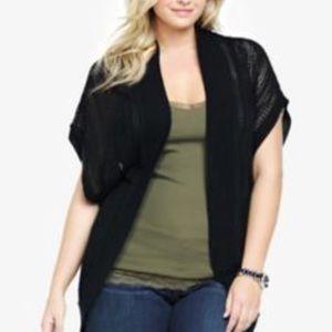 Torrid black cocoon cardigan size 4