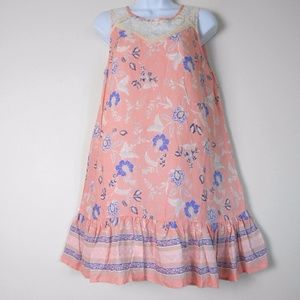 New HAYDEN of LA Tank DRESS Peach Lace & Ruffle