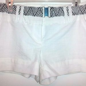 Heartsoul white shorts with belt