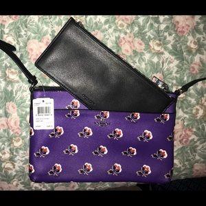 Brand new Purple floral Coach handbag&wallet