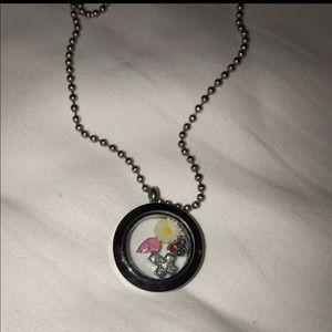 | Origami Owl | Locket Necklace w/ Charms